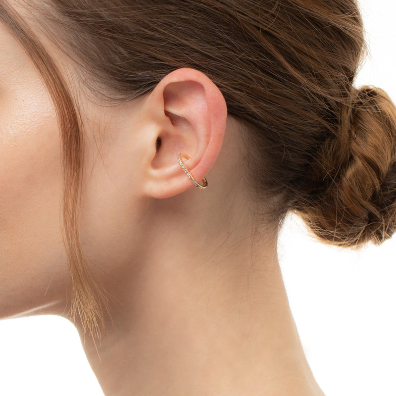 Gossamer Diamond Ear Cuff