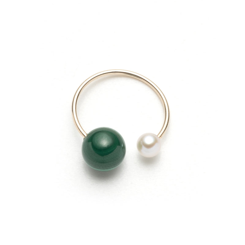 Marachite Akoya Pearl Ear Cuff