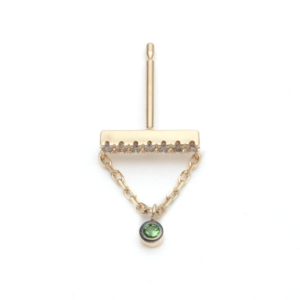 Green Garnet Chain Earring