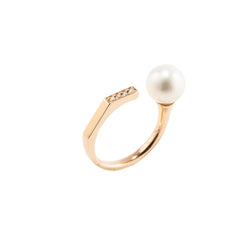 Manhattan Pearl Diamond Cuff Ring