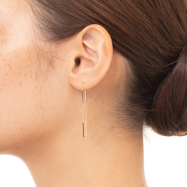 Toggle Chain Earring