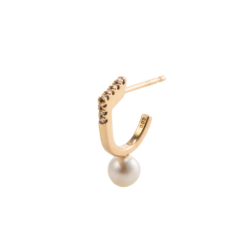 Manhattan Pearl Diamond Earring