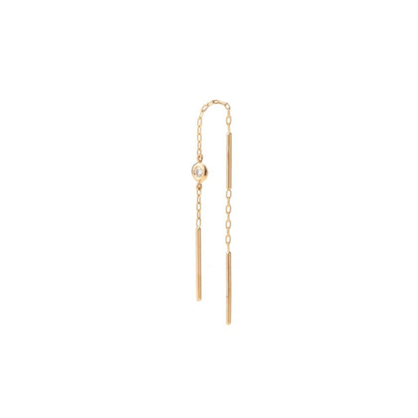 Toggle Diamond Chain Earring