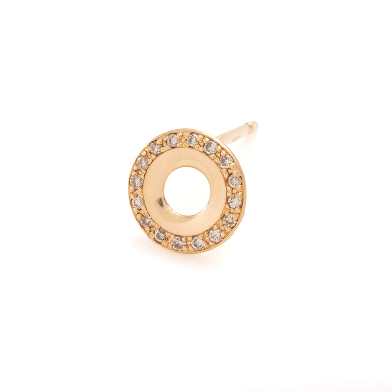 Wheel of Fortune Diamond Stud Earring
