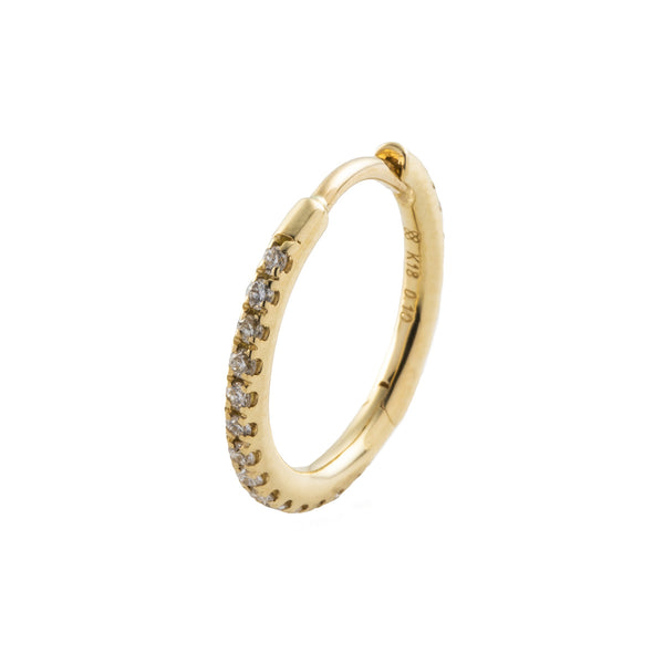 18k Diamond Hoop Earring L size