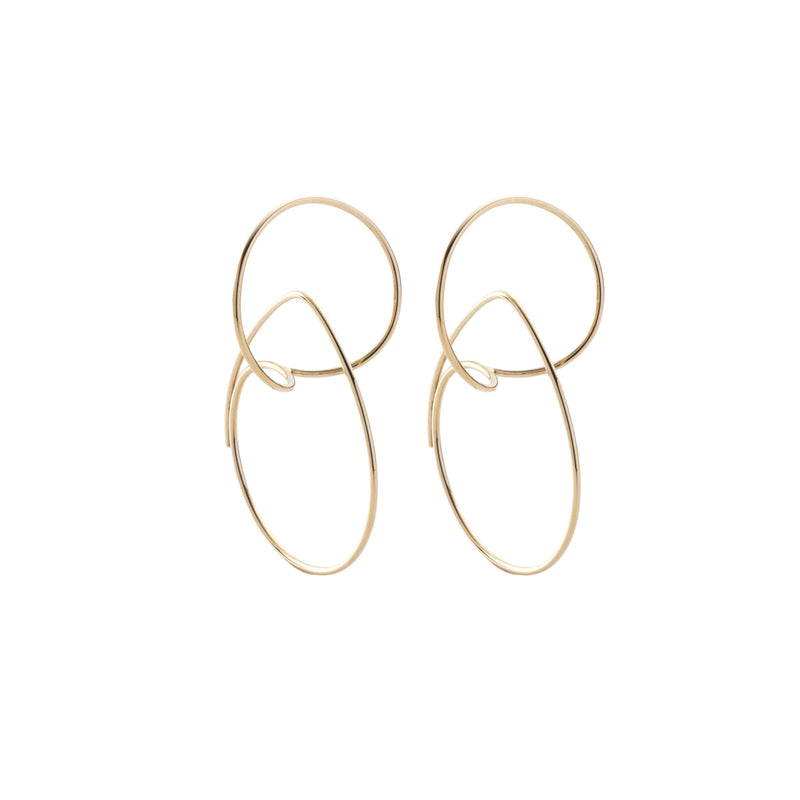 Double Hoop Floating Earring S