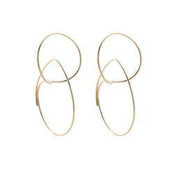 Double Hoop Floating Earring M