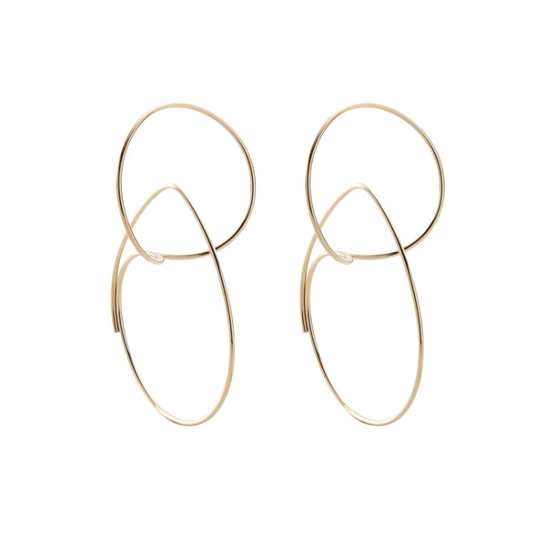 Double Hoop Floating Earring M size