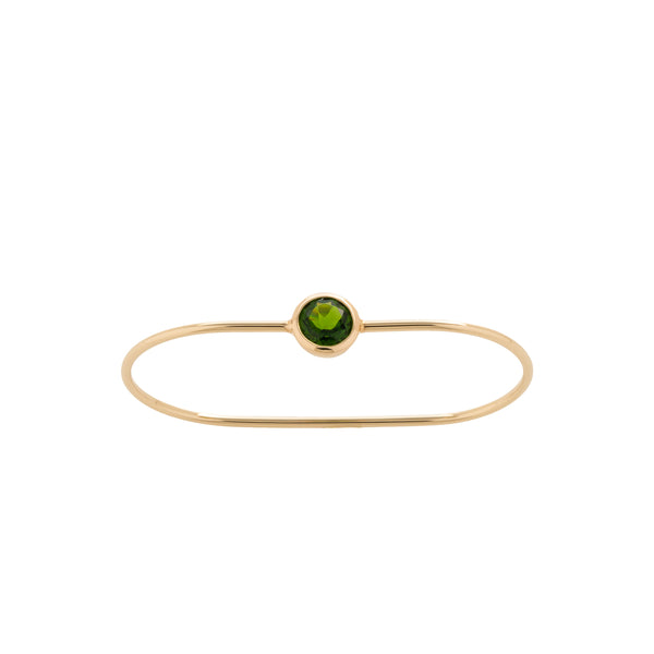 Two Finger Ring Chrome Diopside
