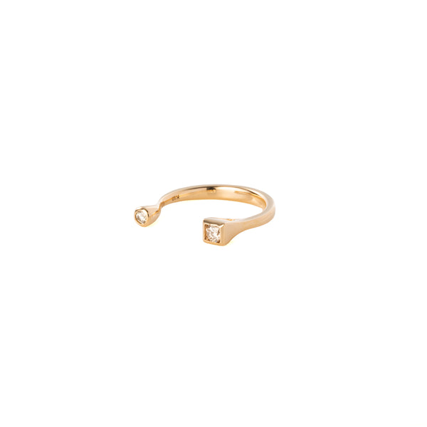 Diamond Cuff Pinky Ring