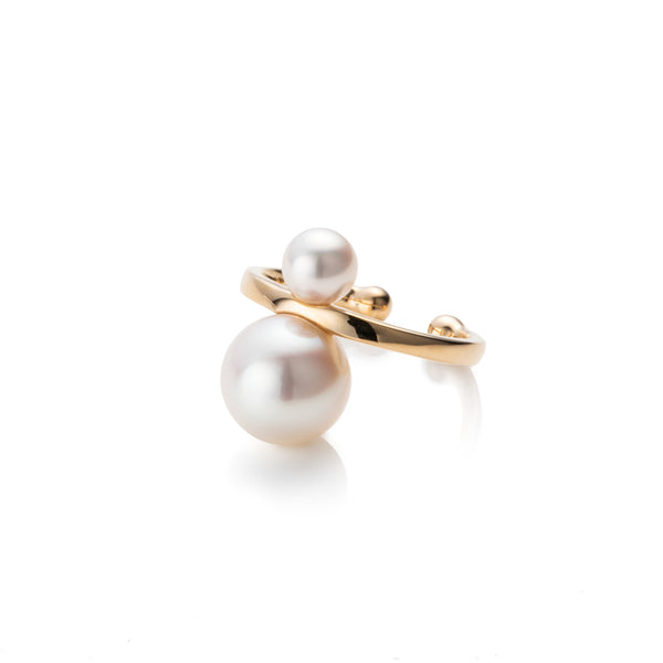 Double Pearl Ear Cuff