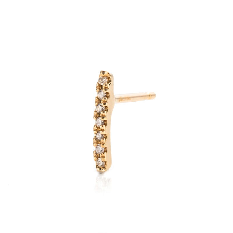 Gossamer Diamond Staple Earring