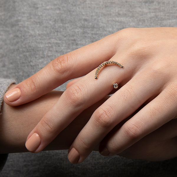 Treehopper Diamond Cuff Ring