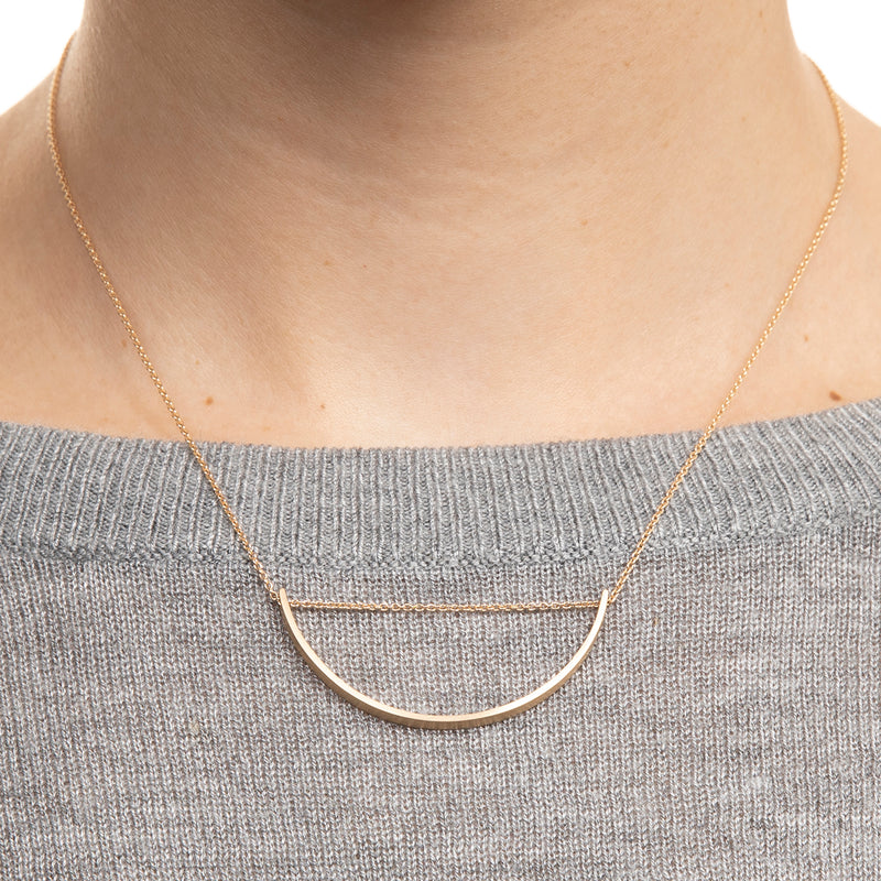 Bow Long Chain Necklace