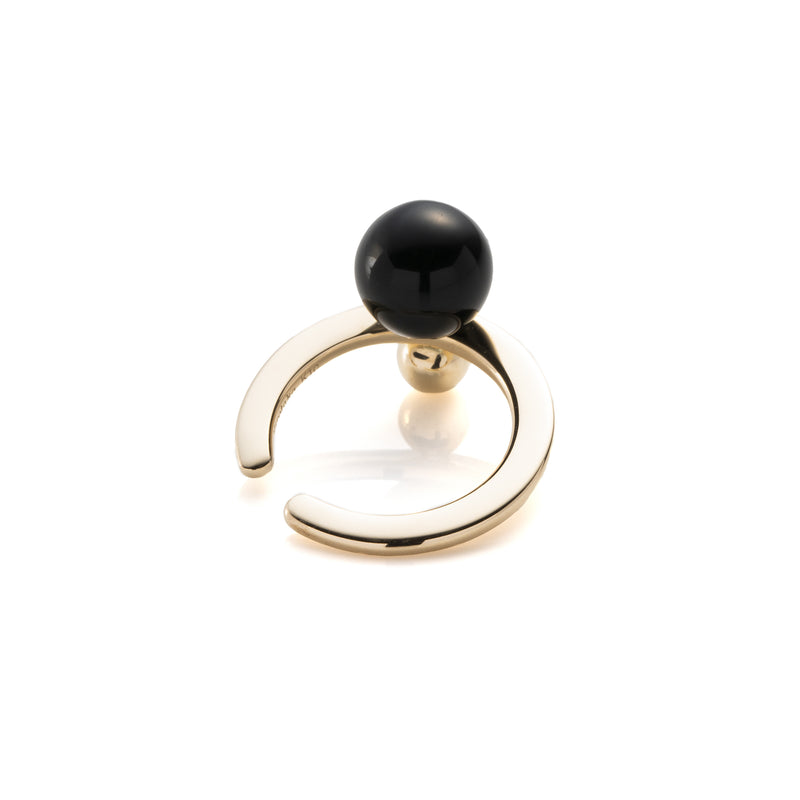 Bumble Bee Onyx Gold Ear Cuff