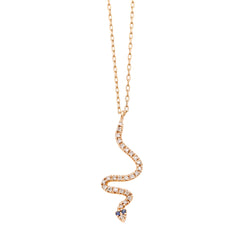Snake Diamond Necklace