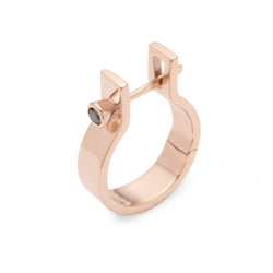 Indústria Black Diamond Earring 5mm (Rose gold)