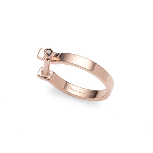 Indústria Diamond Ring 3mm (Rose gold)