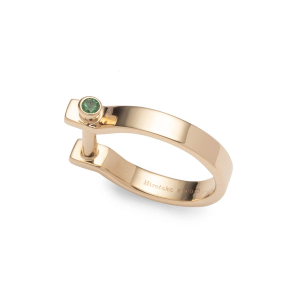 <Online Exclusive> Indústria Emerald Pinky Ring 3mm