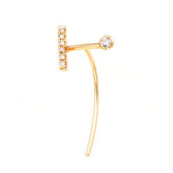 Treehopper 18k Diamond Short Arrow Earring