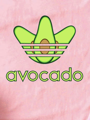Avocado And Cartoon Print Tee