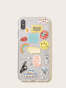 Smile & Mouth Pattern iPhone Case