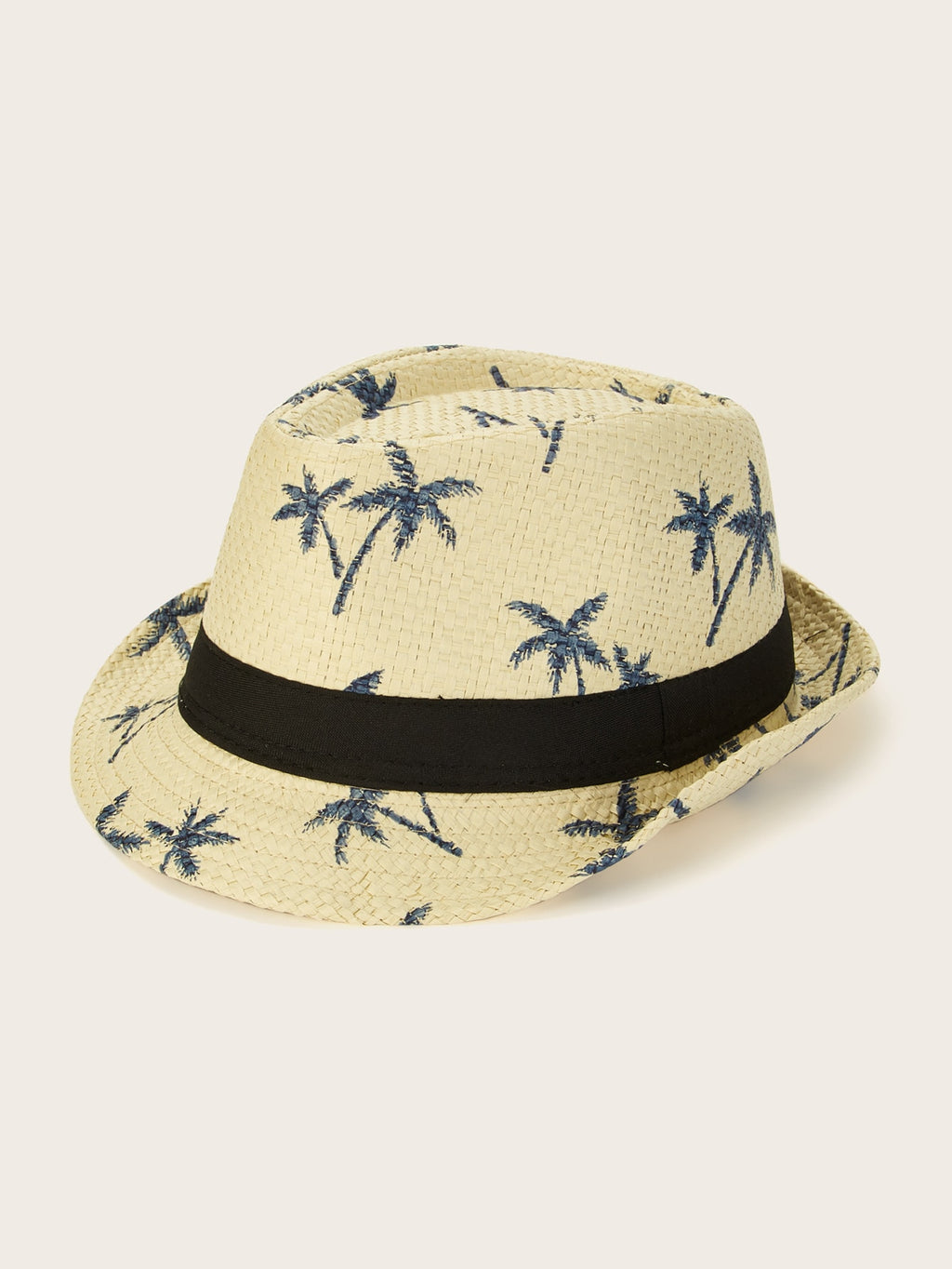 Men Coconut Tree Pattern Fedora