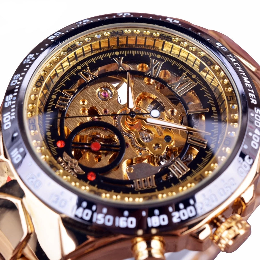 Top Luxury Bezel Golden Watch