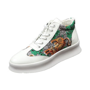 High Top Sneakers Print Tiger