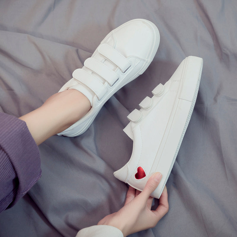 Leather Heart Sneakers