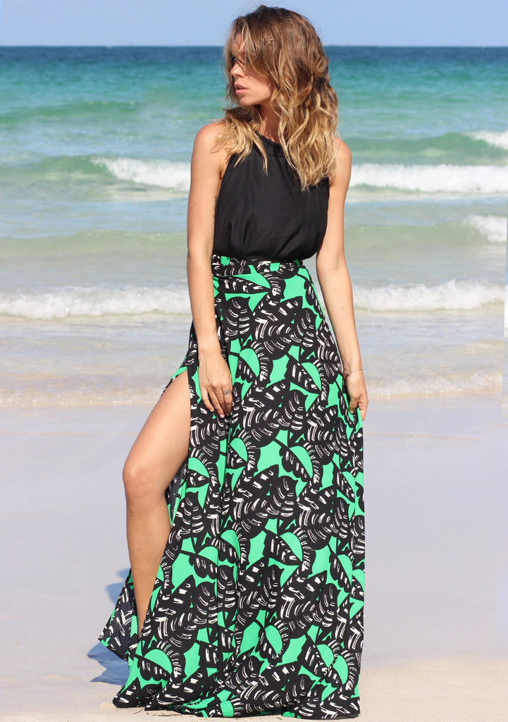 Palmas Wrap Maxi Skirt