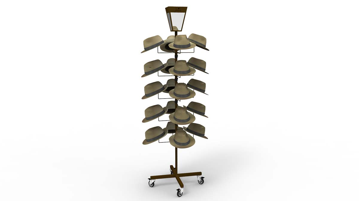 Metal Rotating Sunhat Rack