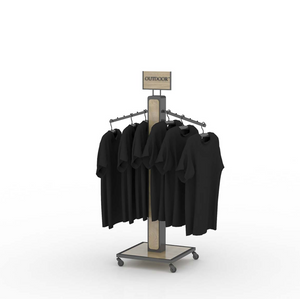 Movable Clothing Display Rack