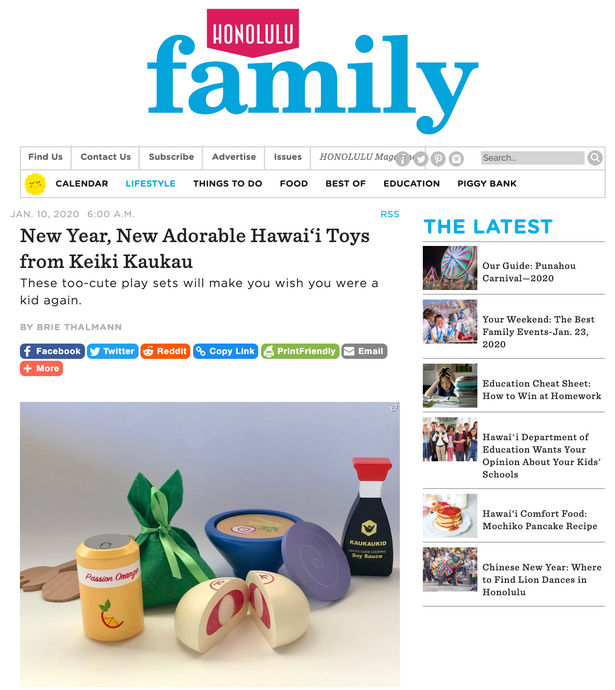 HONOLULU FAMILY - JANUARY 2020