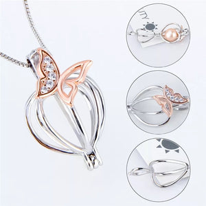 Sterling Silver Butterfly Cage