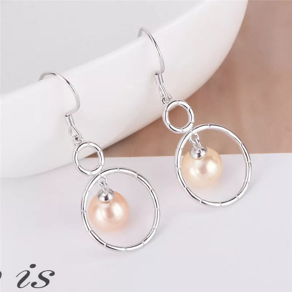 Sterling Silver Gorgeous Double Circle Earrings