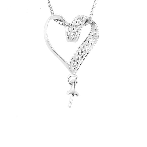 Sterling Silver Beautiful Twist Heart Pendant