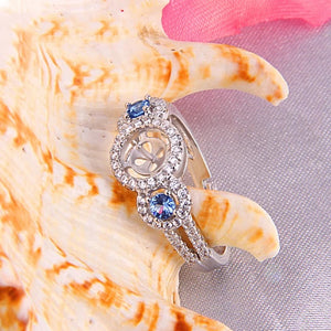Sterling Silver Stunning Blue Zircon Ring