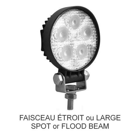 Mini-lampe de travail à DEL ronde universelle de 3 po - Spot and Flood Beam