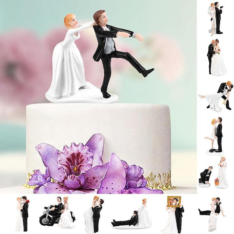 Bride&Groom Cake Topper Figurine