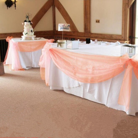 10M*1.35M  Peach Color Sheer Swag