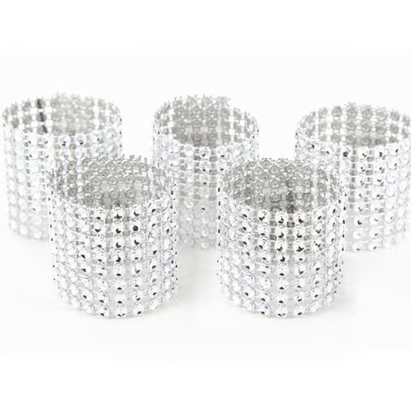 10pcs Diamond Napkin Rings