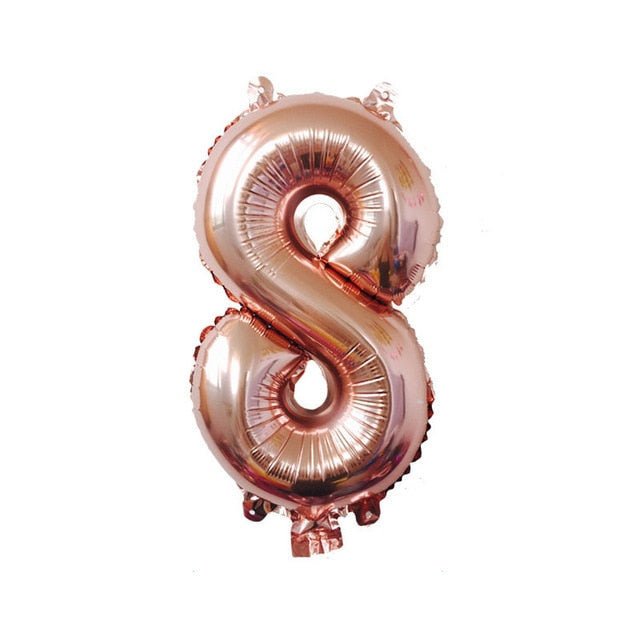 40 inches Rose Gold Numbers Foil Baloons