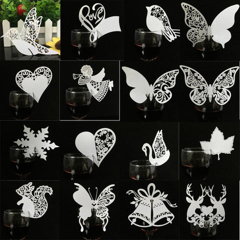 50pcs Laser Cut  Glass Accessories
