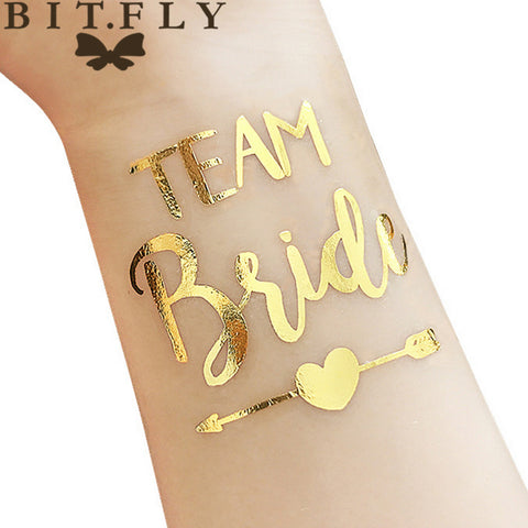 10 pcs TEAM BRIDE GOLD TATTOOS