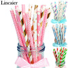 Image of 25Pcs Paper Drinking Straws