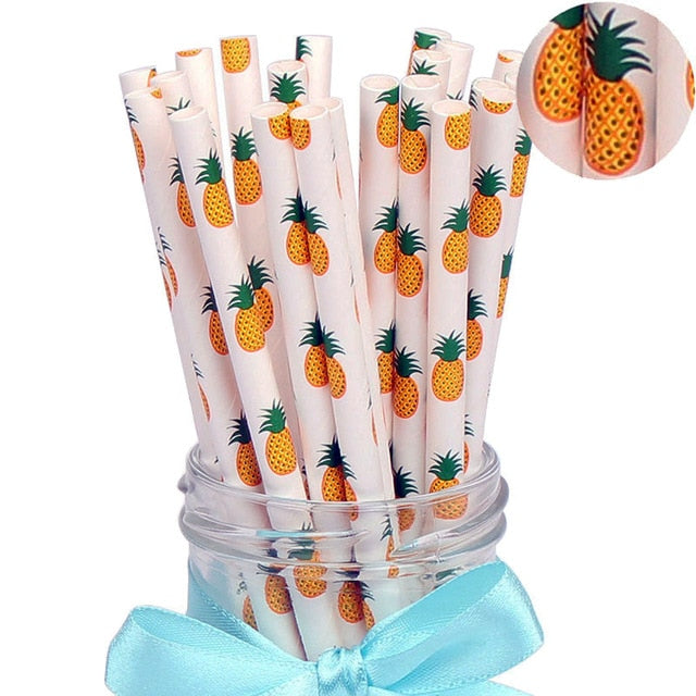 25Pcs Paper Drinking Straws