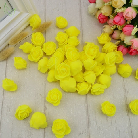100pcs  Foam Flower Roses heads