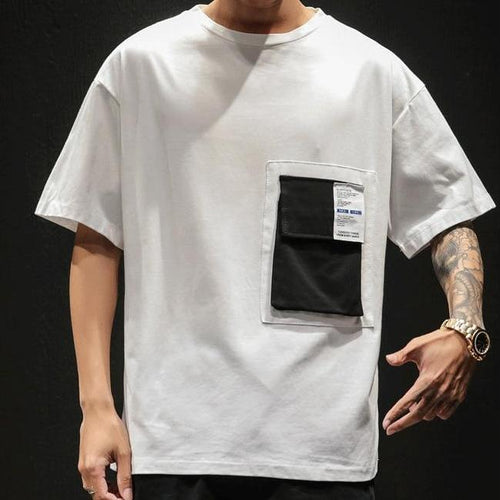 White Pocket T-Shirt - Premium Wear, 100% Cotton - Street Wear