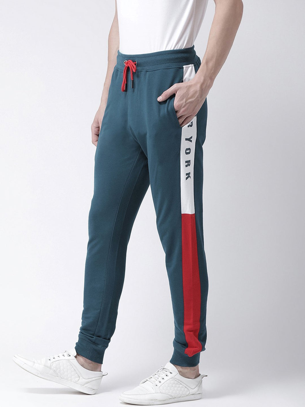 Men's Teal Blue Solid Slim-Fit Jogger PRICE : Rs.749 | Book For Rs.31 Only